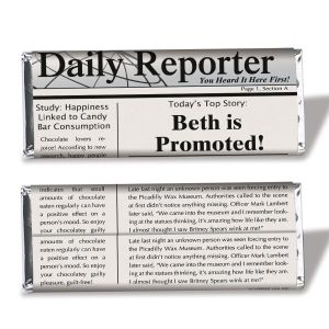 Newspaper Candy Bar Wrapper