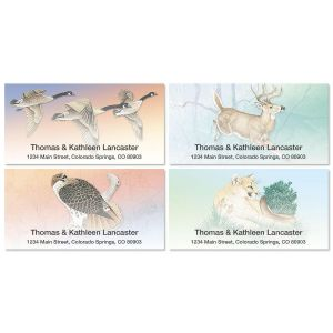 Wildlife Deluxe Address Labels  (4 designs)