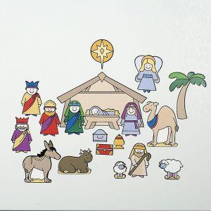 Magnetic Nativity Scene