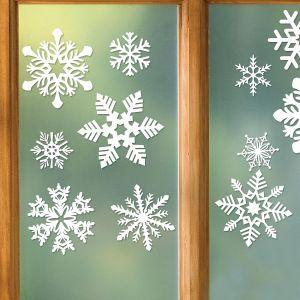 Snowflake Vinyl Clings - BOGO