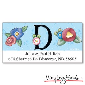 Mary Engelbreit® Initial Deluxe Address Labels