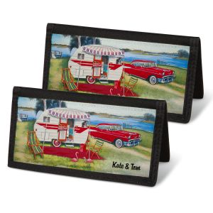 Vintage Trailer Checkbook Covers