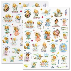 Angels and Flowers Stickers - BOGO