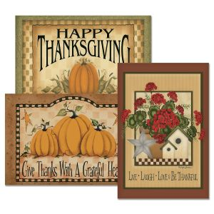 Country Thanksgiving Cards