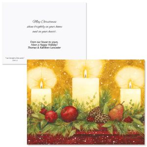 Candle Glow Christmas Cards