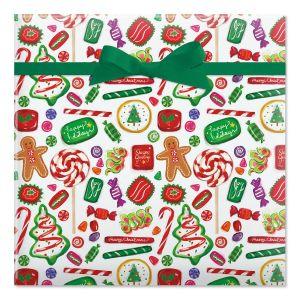 Christmas Candy Jumbo Rolled Gift Wrap