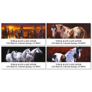 Handsome Horses Deluxe Address Labels  (4 designs)