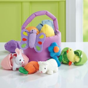 Easter Basket with Stuffed Toys