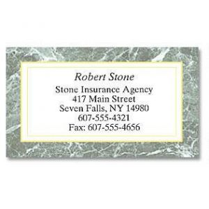 Green Marble Designer Business Cards