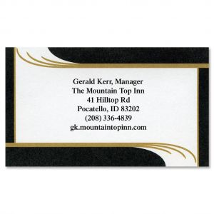 Black Onyx Designer Business Cards
