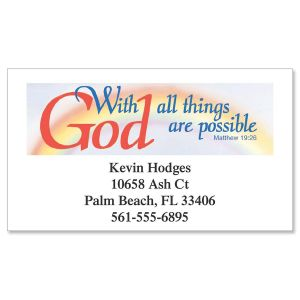 With God Designer Calling Cards