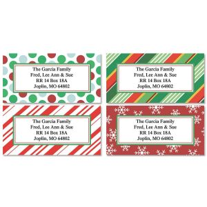 Holiday Border Address Labels  (4 Designs) - BOGO