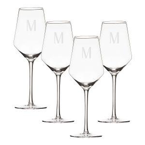 Personalized Estate White Wine Glasses
