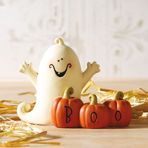 Ghost Boo Pumpkins Figurine