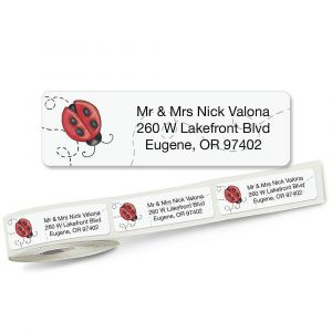 Ladybug Designer Rolled Address Labels