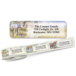 American Countryside Rolled Address Labels 5 Designs