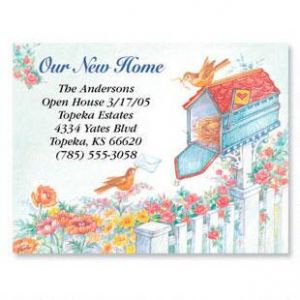 Our New Home New Address Postcards Set of 24