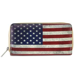 American Flag Zippered Wallet