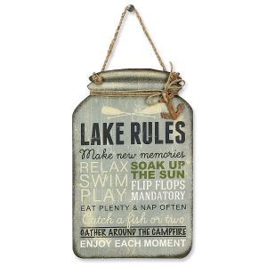 Lake Rules Metal Sign