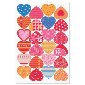Valentine Hearts Stickers