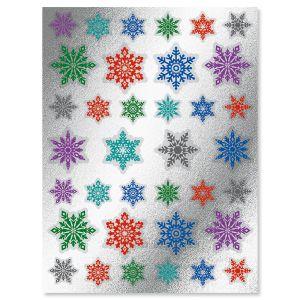 Foil Snowflake Seals