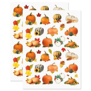 Pumpkin Fall Stickers - BOGO