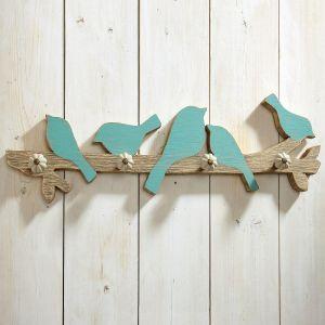 Blue Bird Wall Hooks