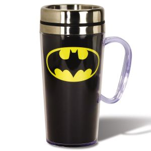 Superhero Logo Travel Mug - Batman