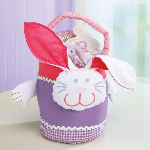 Fabric Easter Bunny Basket