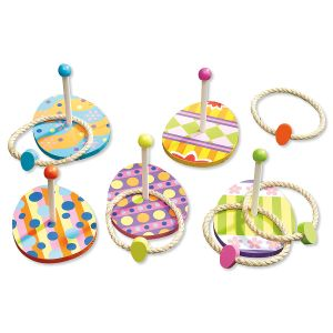 Easter Eggs Wooden Ring Toss Games