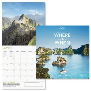 Lonely Planet's Where to Go When Specialty Calendar