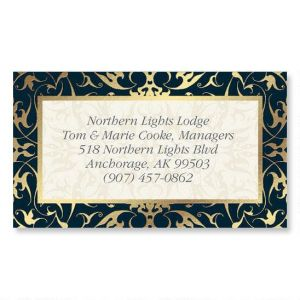 Black Filigree Gold Foil Calling Card
