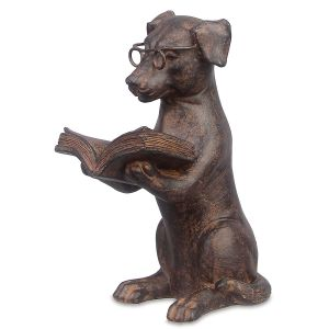 Reading Dog Figurine