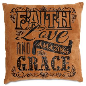 Faith, Love, and Amazing Grace Pew Cushion/Pillow