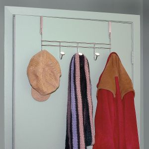 5-Hook Over-the-Door Rack