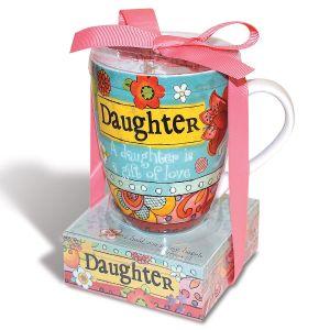 Daughter Mug with Notepad Gift Set