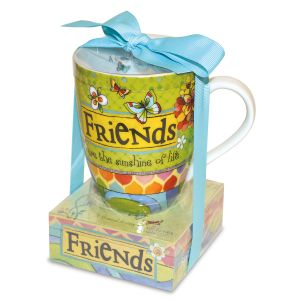 Friends are the Sunshine of Life Mug and Memo Pad Gift Set