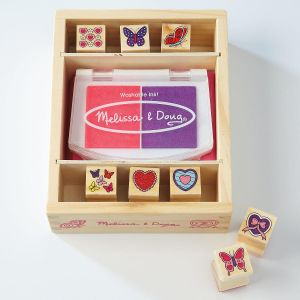 Butterfly & Heart Stamp Set by Melissa & Doug®