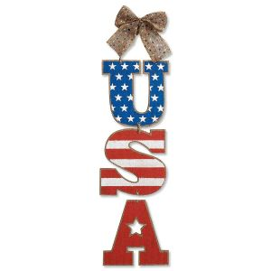 Patriotic USA Hanging Sign