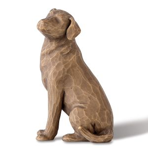 "Willow Tree® ""Love My Dog"" Figurine - Dark"