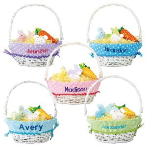 Easter Basket with Personalized Liners