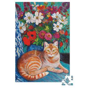 Cat with Bouquet Puzzle