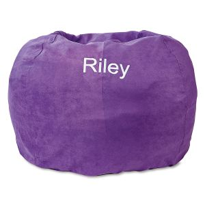 Personalized Purple Bean Bag Chair