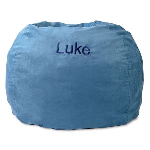 Personalized Blue Bean Bag Chair