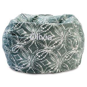 Waterbury Personalized Green Bean Bag Chair