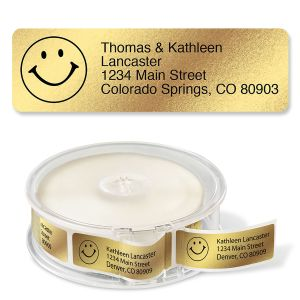 Gold Foil with Symbol Standard Rolled Address Labels