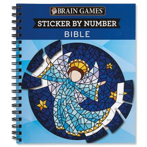Brain Games® Bible Sticker by Number Book