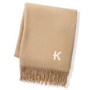 Camel Two Toned Personalized Reversible Throw