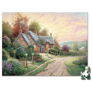 A Peaceful Time Puzzle by Thomas Kinkade