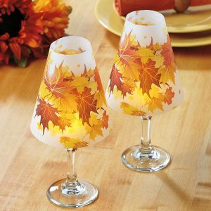 Autumn Leaves Wine Glass Shades